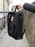 Модный рюкзак сумка канкен Fjallraven Kanken classic 16 черный женский, для девочки подростка, фото 3
