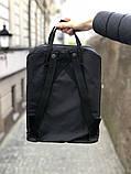 Модный рюкзак сумка канкен Fjallraven Kanken classic 16 черный женский, для девочки подростка, фото 4