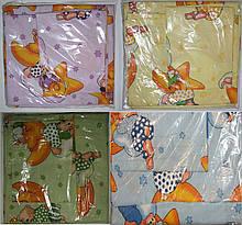 Комплект пастельный детский 3 предмета,простынь на резинке , цвета арт 292 .