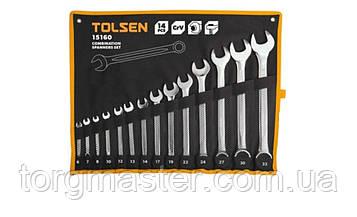 Набор ключей рожково-накидных  TOLSEN, 6-32мм,14шт