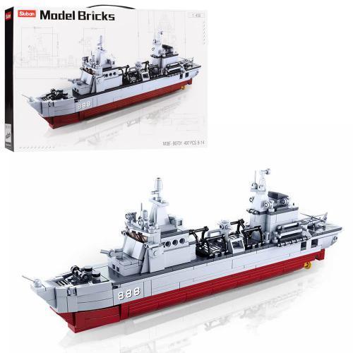 """Конструктор Sluban M38-B0701 """"Военный корабль"""" 497 деталей."""