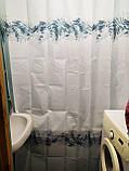 Штора для ванної водовідштовхувальна Туреччина 180х200 см, фото 2