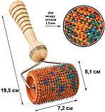 Аппликатор Ляпко Валик Универсальный М 3,5 Ag ручной игольчатый массажер для суставов, от целлюлита Оранжевый, фото 2