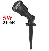 Грунтовий LED світильник 5W 3100K IP65 Feron SP1402 світлодіодний ландшафтний