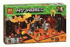 """Конструктор Bela Minecraft 10963 """"Нападение в нижнем мире"""", 215дет"""