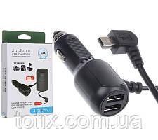 Автомобильное зарядное устройство (АЗУ) JackBorn Car Charger (3.4A/5V, Mini-USB, 3.5 метра)
