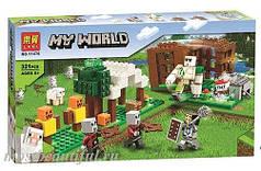 """Конструктор Lari Minecraft 11476 My World """"Аванпост разбойников"""" 321 деталей"""