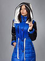 Зимняя женская молодежная куртка - парка, электрик