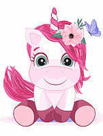 """Картина по номерам """"Розовый единорог"""" для детей в коробке, 30*40 см, фото 1"""