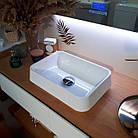 Раковина з литого каменю Morena (450х320х120) білий ТМ «FANCY MARBLE», фото 3