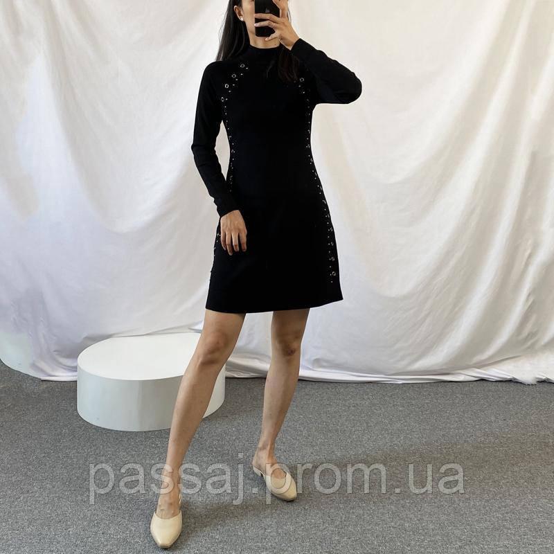 Оригинальное черное платье с блоками Karen Millen