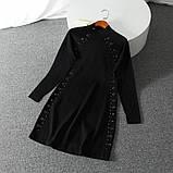 Оригинальное черное платье с блоками Karen Millen, фото 9