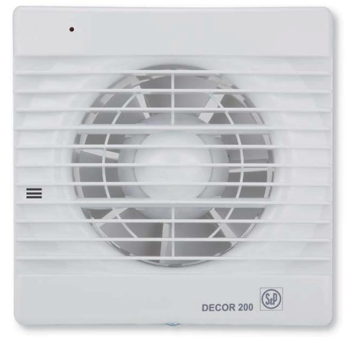 Вытяжной вентилятор Soler & Palau DECOR 200 CR с таймером и клапаном