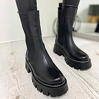 Женские ботинки Челси из натуральной кожи