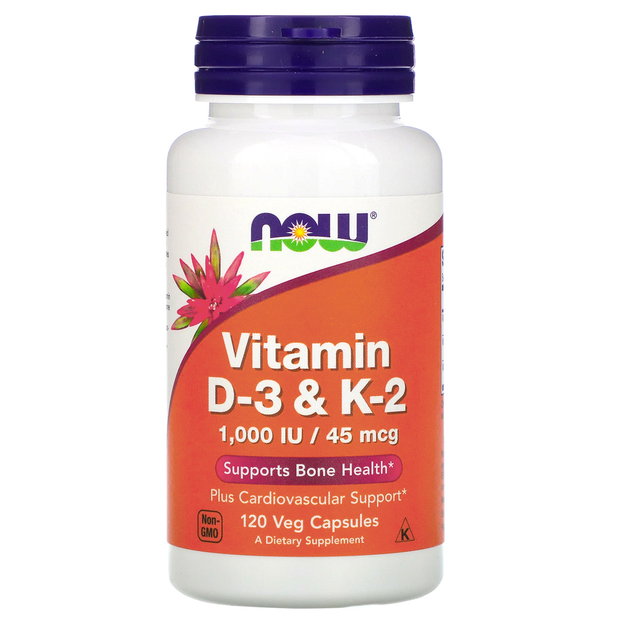 NOW Foods Vitamin D3 1000 IU , Vitamin  K-2 45 мкг 120 капс