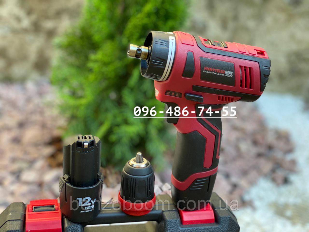 Шуруповерт аккумуляторный Ижмаш Industrialline ICD-12DFR 12 вольт