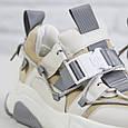 Повседневные женские зимние кроссовки с мехом Спортивные кроссовки женские бежевые Violeta размер 36 - 41, фото 7