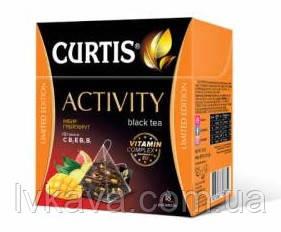 Чай черный Activity Curtis имбирь - грейпфут  в пирамидках, 18 пак