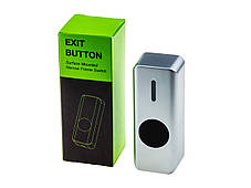 Кнопка выхода бесконтактная металлическая уличная накладная SEVEN K-7497NDW, фото 3
