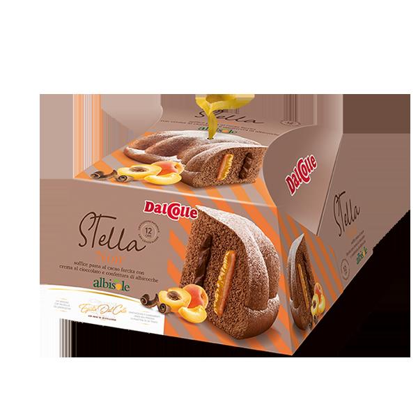 Новогодний панетон DalColle Noir с шоколадно-персиковым кремом, 750 г Италия