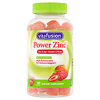 Vitafusion Power Zinc глюконат цинка 15 мг, витамин С 270 мг в 3 вкусных жевательных конфетах, 90 шт