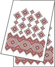 СВРг-22.  Рушник Червоне і чорне. Схема для вишивки бісером