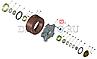 853308Р/52У Шпилька колесная КАМАЗ ремонт Р2, гайка усиленная (H=24 мм.,оцинкован.) (комплект), фото 4