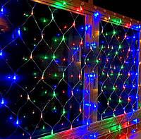 Гірлянда електрична штора 96 лампочок LED, 8 режимів світіння.