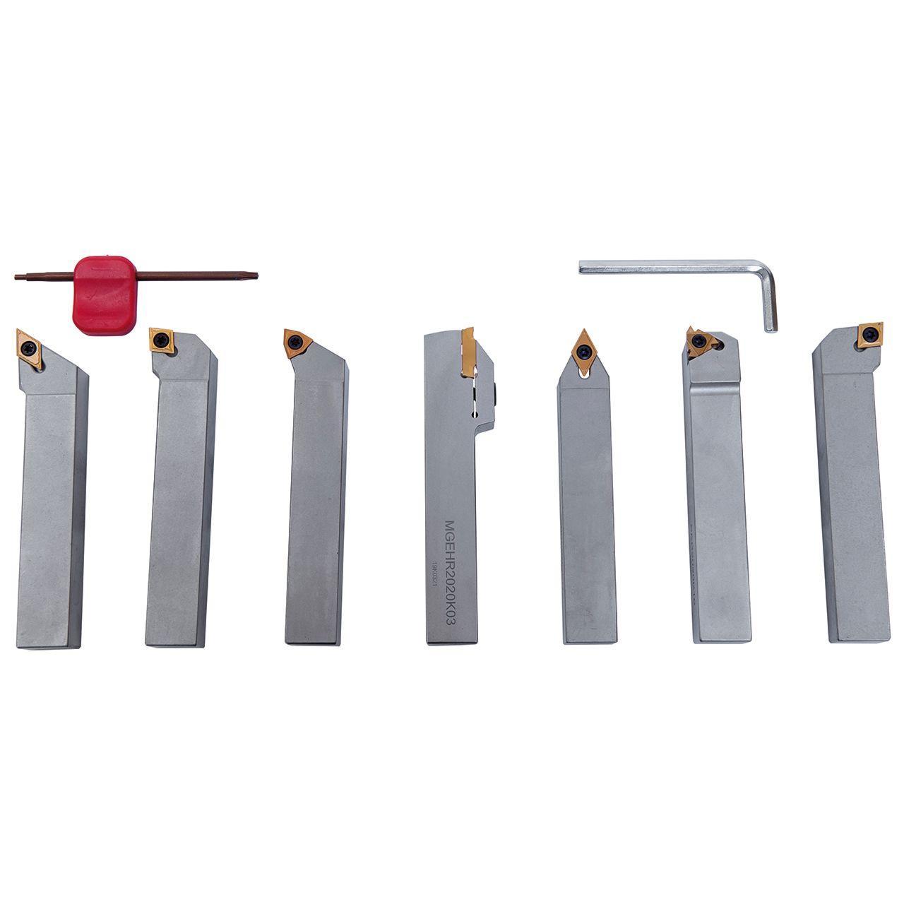 Набор токарного инструмента с твердосплавными пластинами, 20 мм, набор P