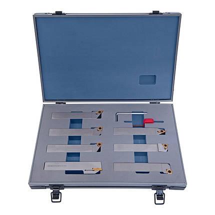 Набор токарного инструмента с твердосплавными пластинами, 20 мм, набор P, фото 2