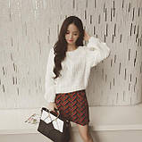 Стильный белый свитер, фото 2