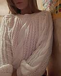 Стильный белый свитер, фото 5