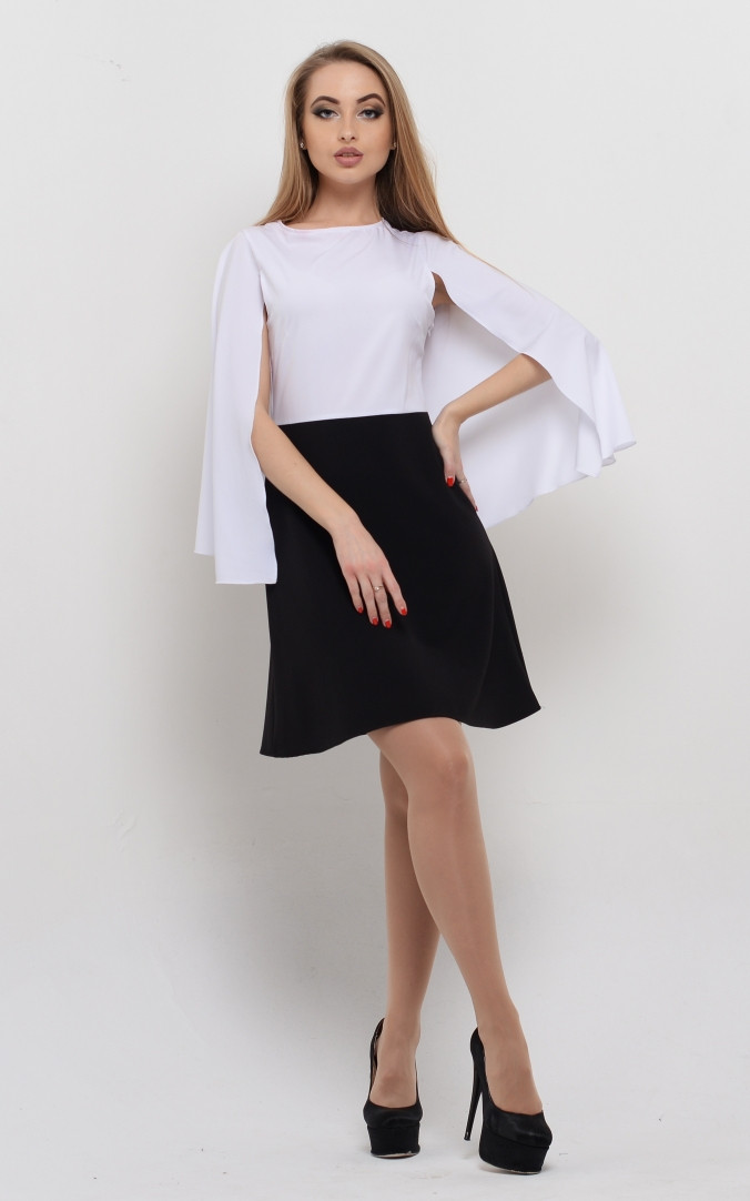 Воздушное платье-кейп