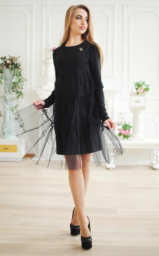Модне плаття з фатином