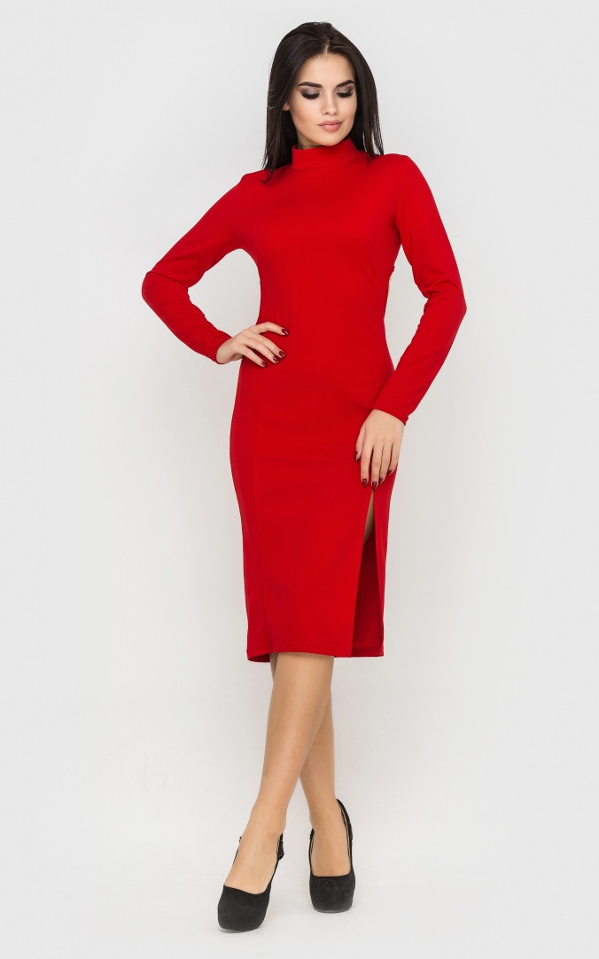 Вечірнє плаття з відкритою спиною (червоне)