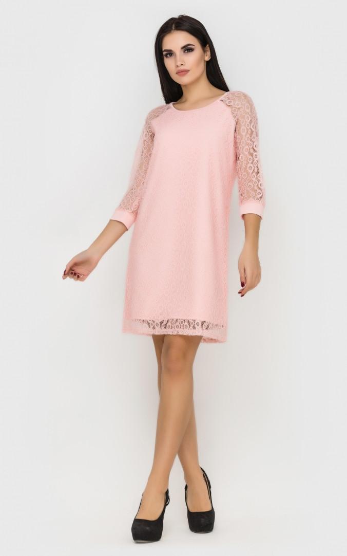 Элегантное вечернее платье (розовое)