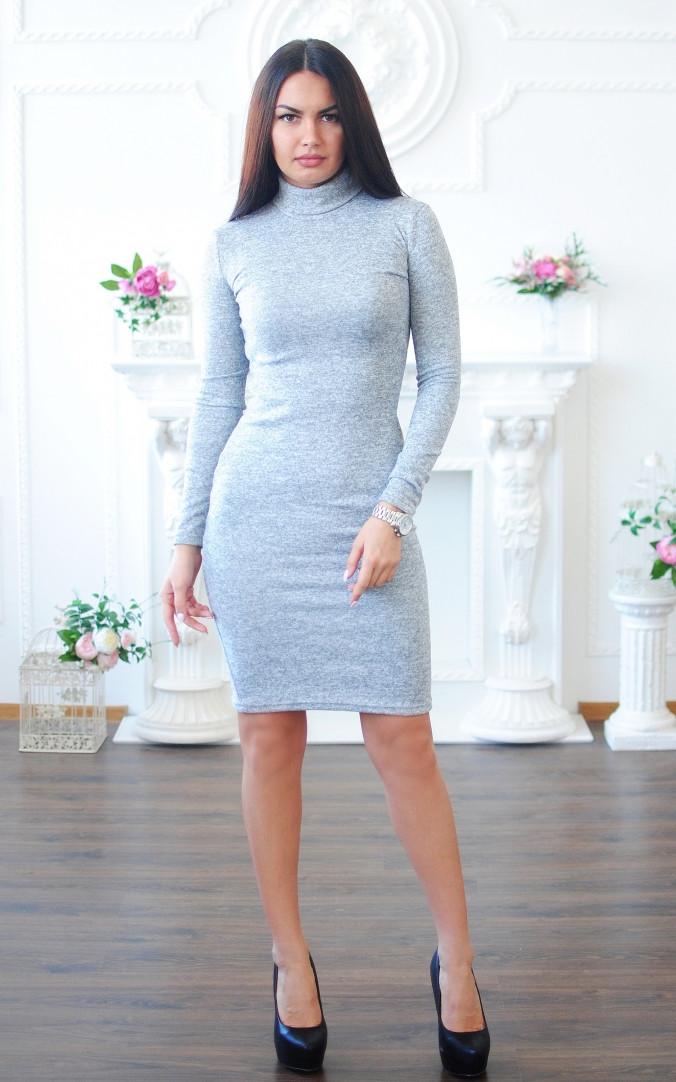 Ангоровое плаття-гольф