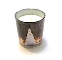 Свеча новогодняя с запахом ванили в стакане