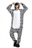 Кигуруми пижама Зебра, кигуруми Зебра для взрослых / Kig - 0027, фото 6