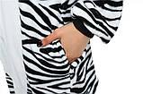 Кигуруми пижама Зебра, кигуруми Зебра для взрослых / Kig - 0027, фото 7