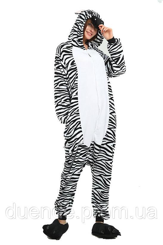 Кигуруми пижама Зебра, кигуруми Зебра для взрослых / Kig - 0027