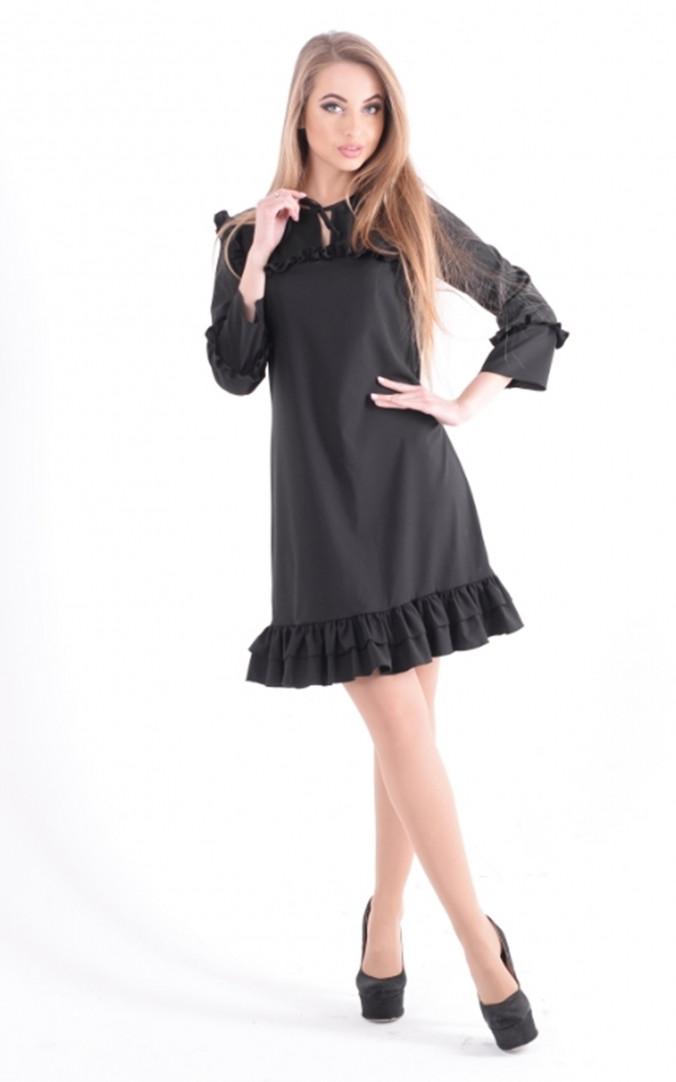 Легкое платье рюша