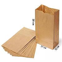 Паперовий пакет з прямокутним дном без ручок 280*170*120