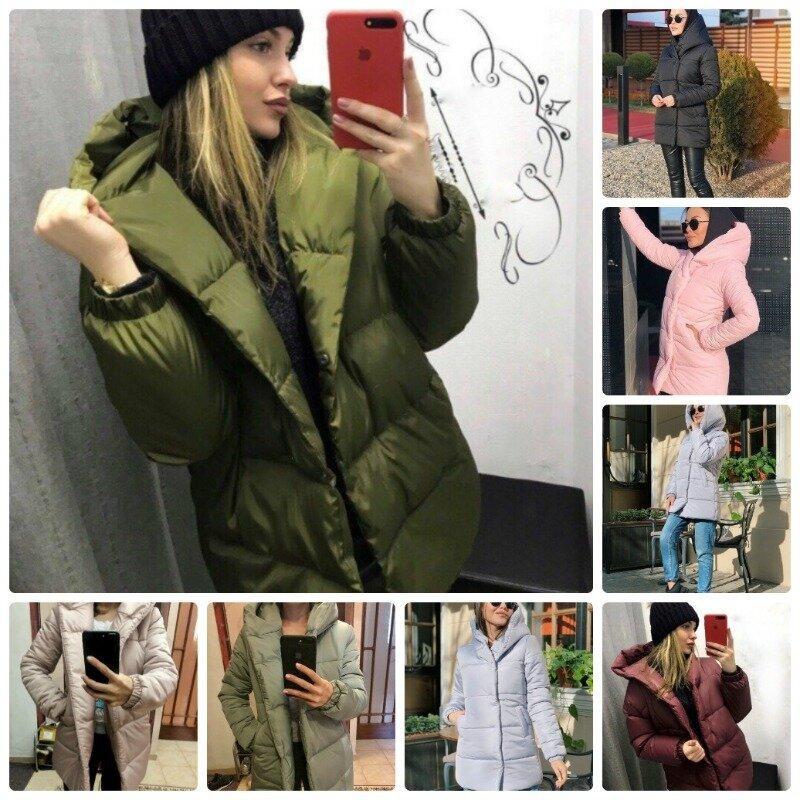 Непродуваемая женская зимняя куртка матовая короткая на силиконе застегивается на кнопках 6 цветов