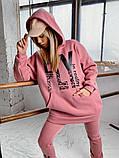 Теплый женский спортивный костюм оверсайз с капюшоном 40-2162, фото 6