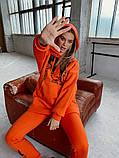 Теплый женский спортивный костюм оверсайз с капюшоном 40-2162, фото 8