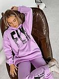 Теплый женский спортивный костюм оверсайз с капюшоном 40-2162, фото 9
