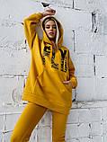 Теплый женский спортивный костюм оверсайз с капюшоном 40-2162, фото 10