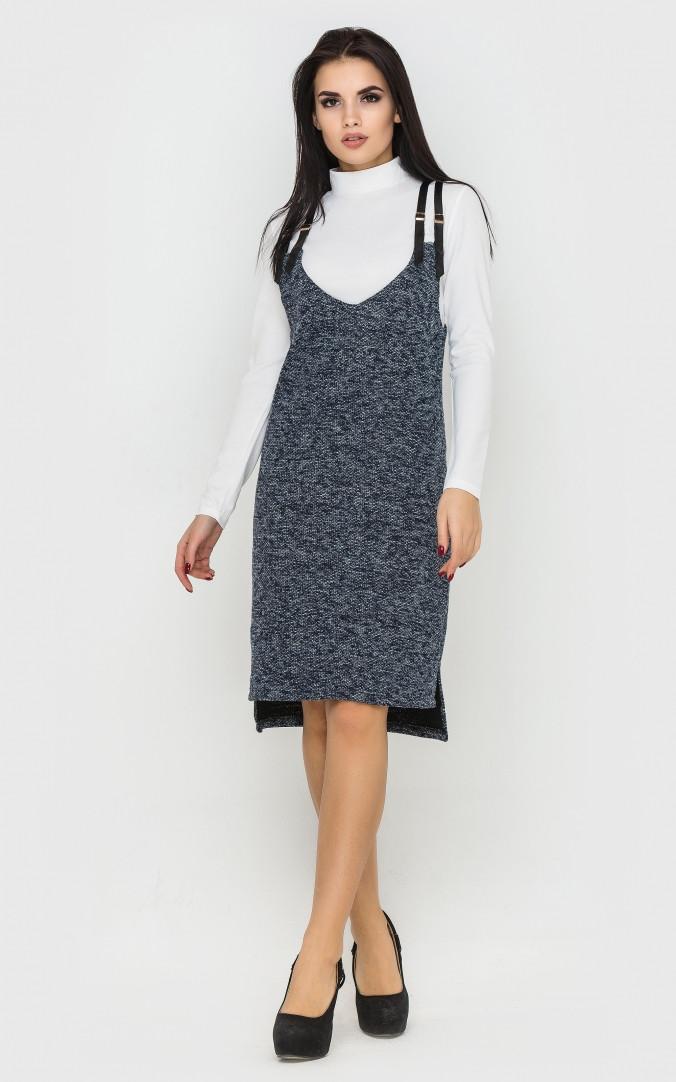 Платье двойка (синий)