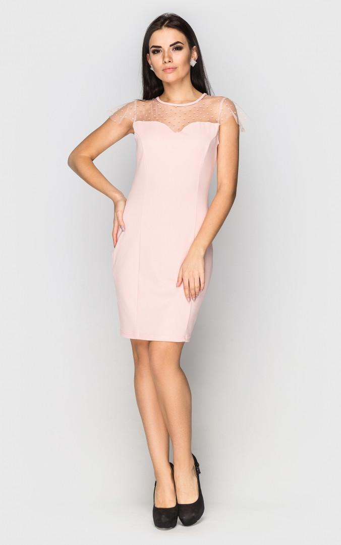 Вечернее платье мини (розовое)